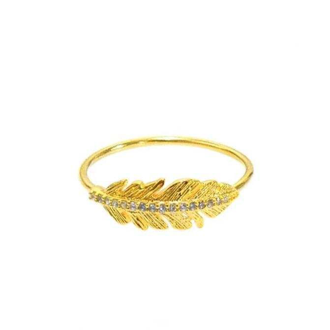 Tai Feather Ring - Gold