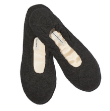 Load image into Gallery viewer, White + Warren Cashmere Ballet Slipper - Charcoal Heather