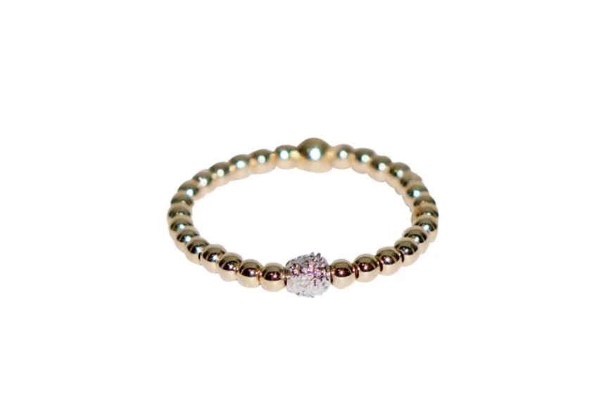 Karen Lazar Ring - 2mm Diamond Bead