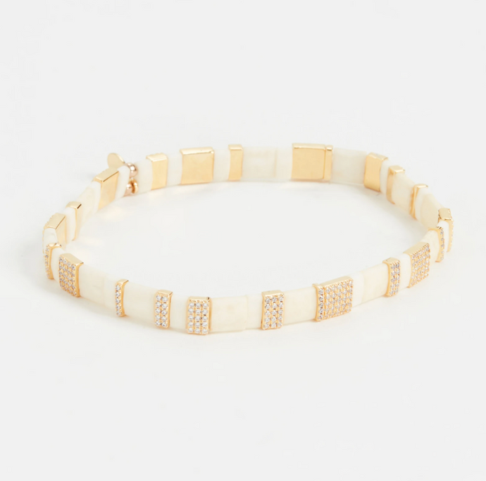 Shashi Tile Pave Bracelet - 2 Colors