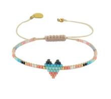 Load image into Gallery viewer, Mishky Heartsy Row Beaded Bracelet - 8 Colors