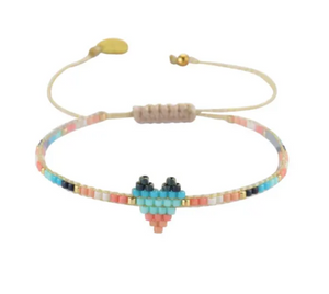 Mishky Heartsy Row Beaded Bracelet - 8 Colors