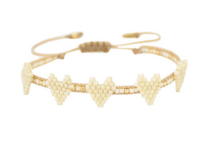 Mishky Multi Heart Row Bracelet - 3 Colors