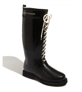 Ilse Jacobsen Knee High Rubber Rain Boot - Black