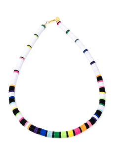 Elsie Frieda THE CARLY - WHITE & BLACK MULTI | NECKLACE