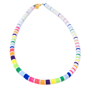 Elsie Frieda THE CARLY - WHITE MULTI | NECKLACE