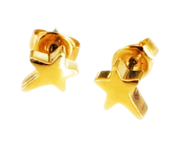 Rosie Bold Shana Mini Star Pierced Stud Earrings (Gold, Silver and Rose Gold)