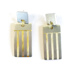 Sunshine Tienda Silver Metallic Comb Earrings