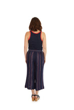 Load image into Gallery viewer, Sundry Lurex Stripe Pant - Navy
