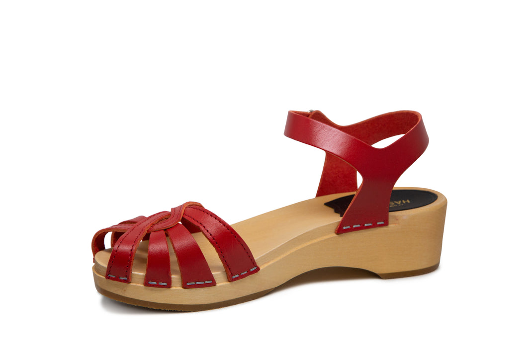 Swedish Hasbeens Cross Strap Debutant - Red