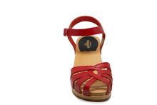 Load image into Gallery viewer, Swedish Hasbeens Cross Strap Debutant - Red
