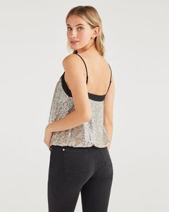7 For All Mankind Sequin Cami - Silver