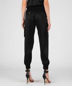 ATM Silk Cargo Sweatpants - Black