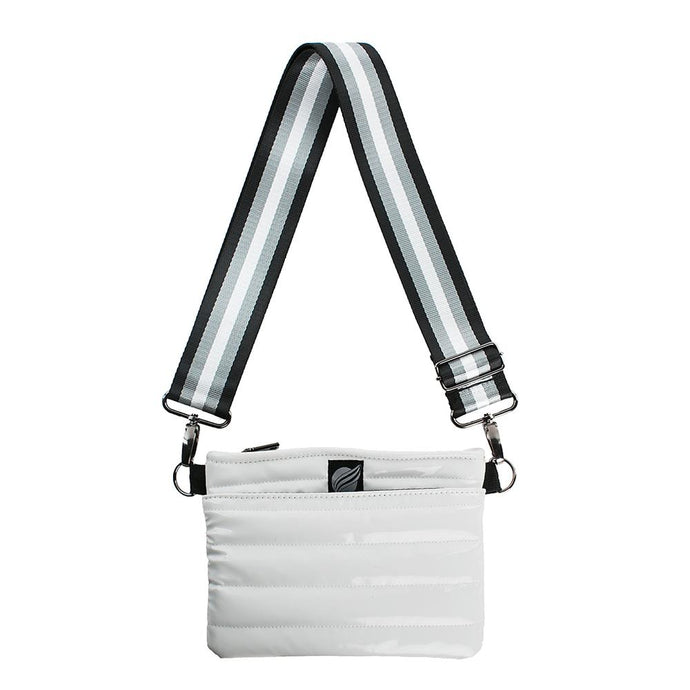 Think Royln Bum Bag Cross Body - White Patent