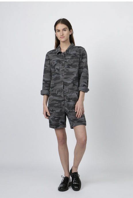 G1 Camo Pilot Short Jumper - Charcoal