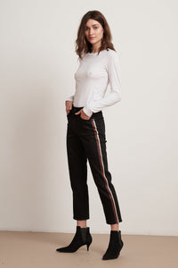 Velvet Darria High Rise Straight Leg - Onyx Stripe