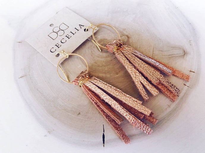 Cecelia Designs Jewelry - Leather Tassel Earrings