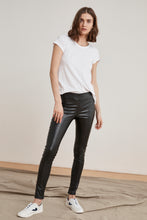 Load image into Gallery viewer, Velvet Berdine Vegan Leather Leggings - Black