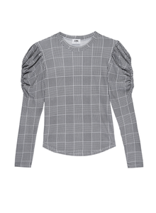 LNA Plaid Bolt Long Sleeve Tee