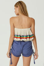 Load image into Gallery viewer, Jen's Pirate Booty Rainbow Cha Cha Tube Top - Natural