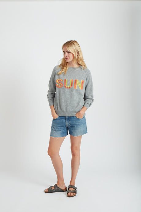 Jumper1234 3 Col Sun Sweat - Lava