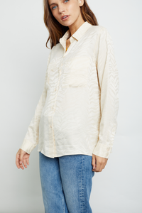 Rails Kate Button Down Top - White Tiger