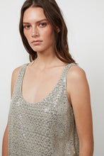 Load image into Gallery viewer, Velvet Milan Sequin Tank Top- Melange