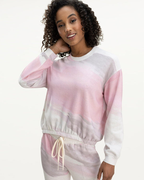 Splendid Sunwash Bubble Pullover