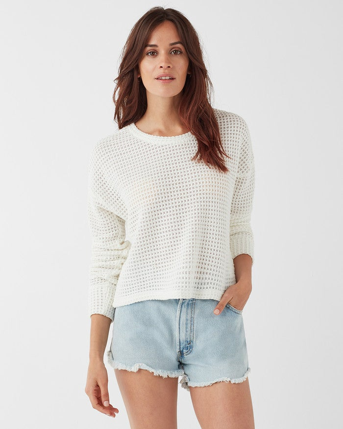 Splendid Angler Looseknit Sweater - White