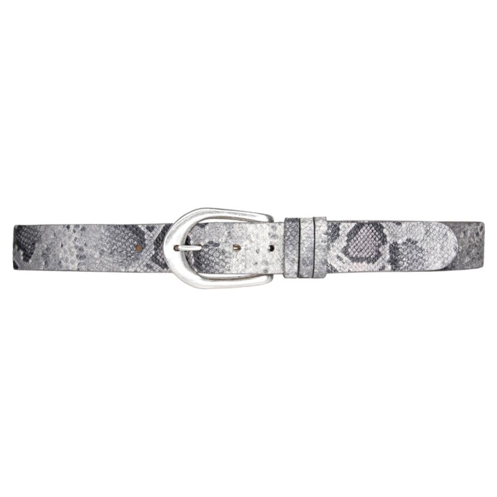 Streets Ahead Marie Belt - Grey Python