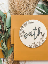 Load image into Gallery viewer, Floral Bath sign