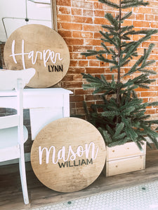 Custom Round Name Sign