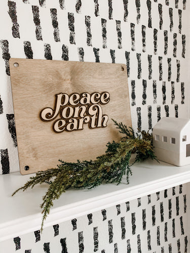 "12"" Christmas plaque (Black Friday Deal)"