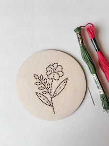 Floral 2 Embroidery Kit