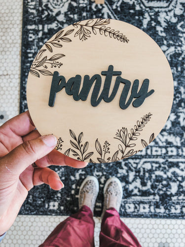 Pantry sign