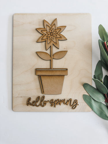 DIY Flower Pot plaque