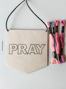 PRAY Embroidery Kit
