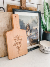 Load image into Gallery viewer, Floral Cutting Board