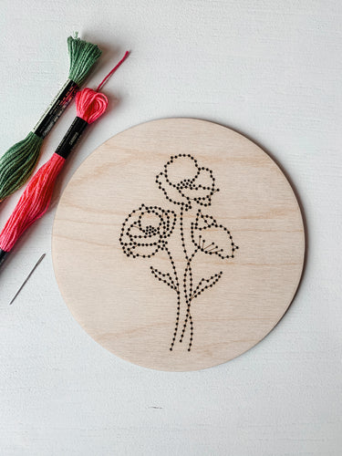 Floral 1 Embroidery Kit