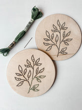 Load image into Gallery viewer, Green Leaves Embroidery Kit