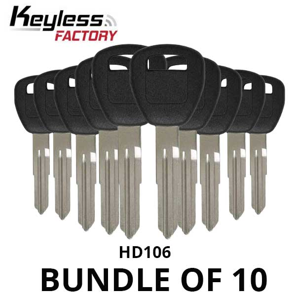 1997-2006 Honda Acura HD106 Transponder Key (BUNDLE OF 10)