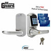 Electronic Lever Lock – SS – Satin Silver – w/ Programmable Prox Card & Key Override- 10 FREE Prox Cards
