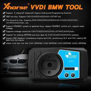 XHorse - VVDI BMW Programming Tool - Support Mileage Correction + FREE MINI KEY TOOL