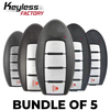 5 x NEW 2019-2020 Nissan / 3-4 & 5 Button Smart Key / S180144904 / XN74 / XN73 / XN75 / XN45 (BUNDLE OF 5)
