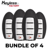 4 x 2017-2018 Nissan Rogue / 4-Button Smart Key / PN: 285E3-6FL2B / S180144109 / KR5S180144106(BUNDLE OF 4)