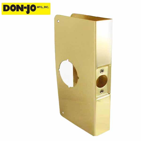 "Don-Jo - Wrap Plate #2 - 2-3/8"" - 1-3/4"" Doors - Gold (2-PB-CW)"