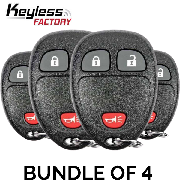 4 x 2007-2017 GM / 3-Button Keyless Entry Remote / OUC60270 (BUNDLE OF 4)