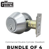 4 x Premium Commercial Double Cylinder Deadbolt – 26D – Satin Chrome – SC4 – Grade 2 (BUNDLE OF 4)