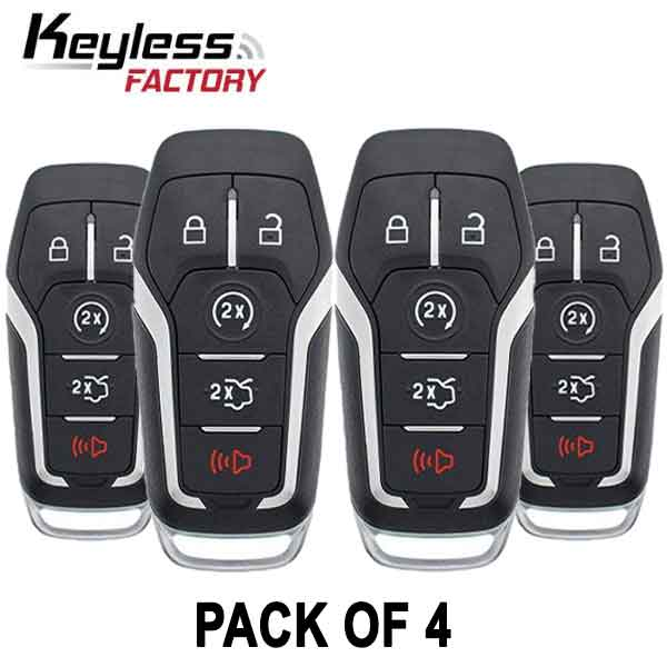 2013-2020 Ford Mustang Lincoln / 5-Button Smart Key / M3N-A2C31243300 (BUNDLE OF 4)