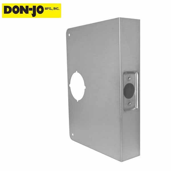 "Don-Jo - Extended Wrap Plate #55 - 5"" - 1-3/4"" Doors - Silver - (55-S-CW)"